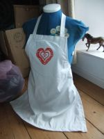 Painted Apron by sewn-by-honeybirds