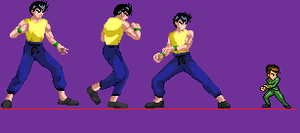 Yusuke's fighting stance- Reiko by thanewdude07