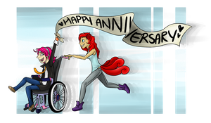 Happy Anniversary PI! :D by MissDrawsAlot