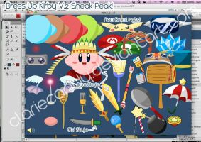 Kirby Dress Up Game Preview V2 Sneak Peek 2 by clariecandy