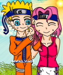NaruSaku - Family by TheElementOfMagic