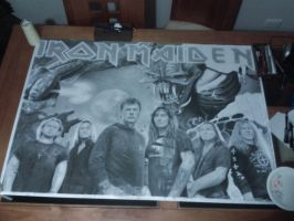 Iron Maiden Drawing Last WIP by Polonx