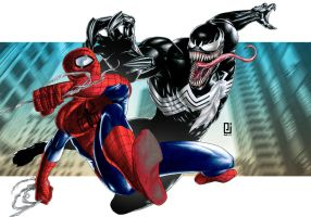 Spider-Man vs. Venom by PeejayCatacutan