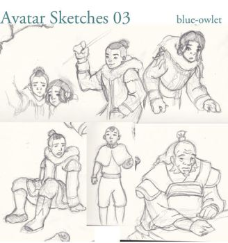 Avatar Sketches 03 by blue-owlet