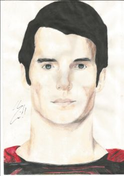 SUPERMAN DRAWING SIGNED BY HENRY CAVILL!!!!!!!!!! by Jesscurious13