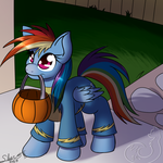 Dashie Trick Or Treat by Silverfox057