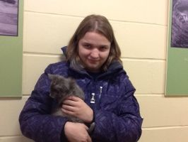 Me with a kitten at Monmouth SPCA by LishaColors