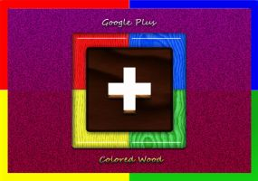 Google Plus 'Colored Wood' by Uriy1966