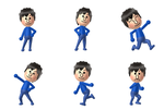 Rion's different poses on Wii U by Starlight790
