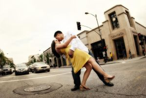 Old Town Pasadena Engagement 1 by rubixcu8e