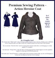 Premium Sewing Pattern - Action Heroine Coat by StarValkyrie
