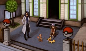 First Meeting in Lumiose City by pancakesandhalibut