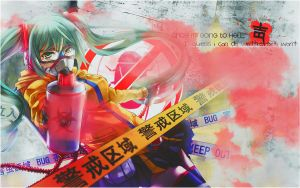 Wallpaper Hell Miku Hatsune by FlowEditions
