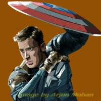 Captain America - Winter Soldier - vector poster by ArjunM0102