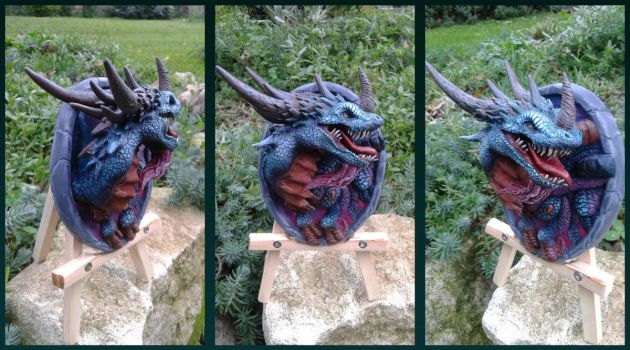 Azure Drake - hearthstone sculpture by AntonioBalicevic