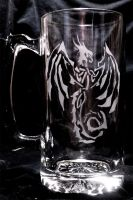 Celtic Knot Dragon Tankard by Fulstein