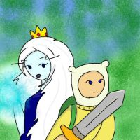 Finn and Ice Queen vs the Lycen by IceQueenRocks