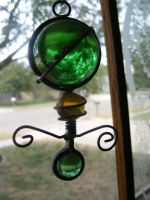 Green thing in window by grlgeorge
