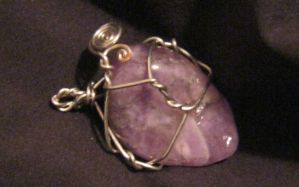 amethyst wire wrap by Galasdian
