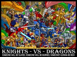 Knights Vs Dragons by ShoNuff44