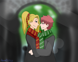 Harry Potter AU SasoDei by KawaiiVictory