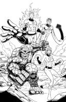 Fantastic Four inks by seanforney