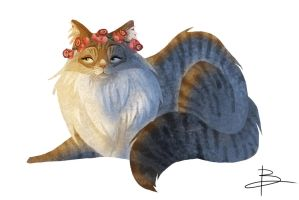 Daily Painting #009 'Hipster Cat 2' by FatPug