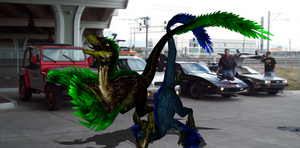 MMD Newcomer Feathered Raptors + DL by Valforwing
