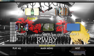 RWBY Volume 1 episode selection menu by Ask-Fangthevampire