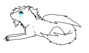 ivy crying line art ^^ by Meeka-The-Fire-Wolf
