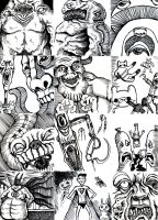 15 minute drawings 2 by poopbear