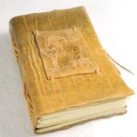 Yellow Medieval Scribe Book by gildbookbinders