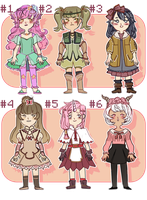 Adoptables #2 [closed] by carameau