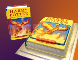 Harry Potter Book Cake by ginas-cakes