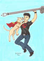 Aw come on Krypto, not now by childofwhitestorm