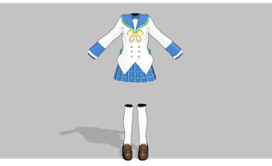 MMD Lucky School girl set -updated- by amiamy111
