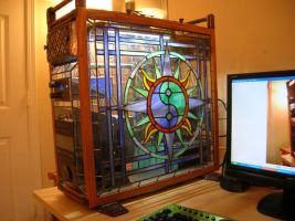 Stain Glass PC Case by AvenLord