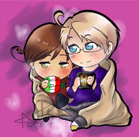 Romerica: Blankets and Cuddles. by 1010Amy-Kia