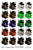 Gang Emblem 1 - various colours by moshimo
