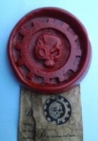 Adeptus Mechanicus Purity Seal MK I - Close up by StaticLemon