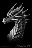 Dark Armorplate Dragoness Portrait by Vapolord