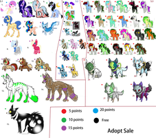 Huge Adopt Sale  NO LONGER USING by WolfiesAdopts