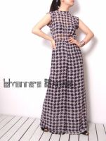 Black White Checked Jumpsuit 3 by yystudio