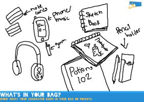Whats in your Bag meme [HH] by Holographic-Neku