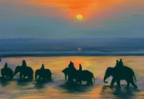 India Elephants Sonpur by underpk