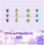 Stitch and Monsters Inc ORBS by Brilijah