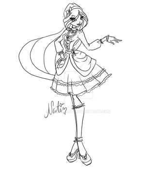 Com: sketch Christine gothic lolita by LaminaNati