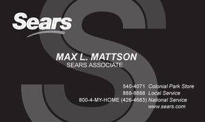 Sears Business Card by dragonorion