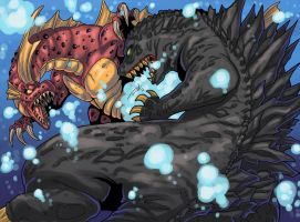 Godzilla Vs Titanosaurus by Warriorking4ever