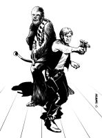 Han and Chewie by Paul-Moore